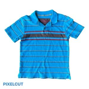Oshkosh blue and red button up  polo shirt